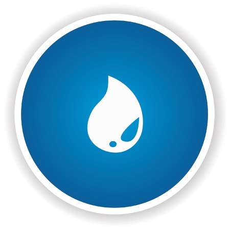 water drop: Water drop sign button,vector  Illustration