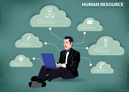 Cloud computing,human resource,vector  Stock Vector - 19725298