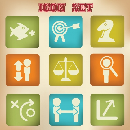 Business Icons,vector Stock Vector - 19725239