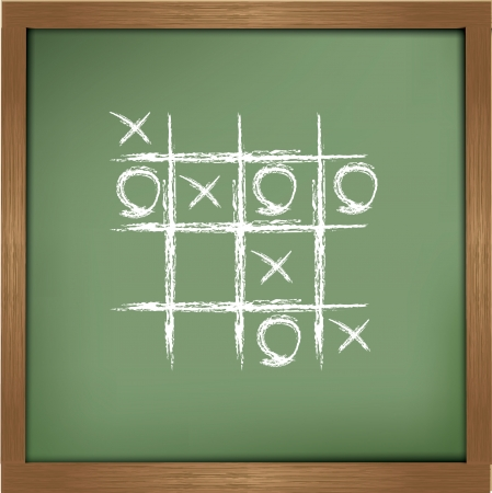 O,X game sign,Vector  Vector
