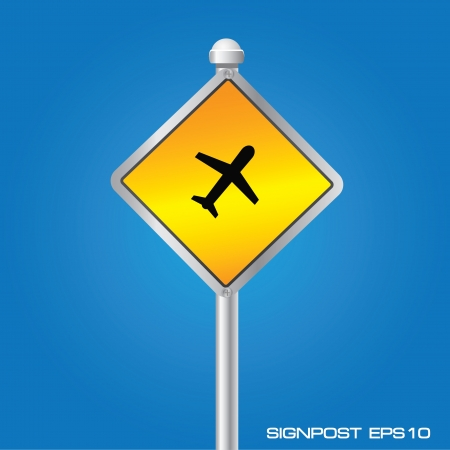 aviations: Airplane signpost,vector