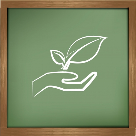 Tree drawing sign on blackground,vector Stock Vector - 19725267