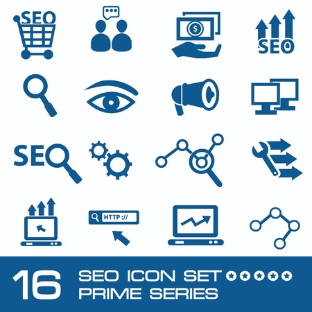 SEO concept,Search engine icon set,vector  Stock Vector - 19725094