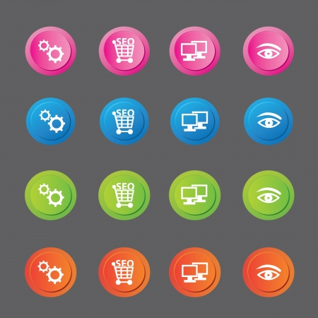 SEO concept,Search engine icon set,vector  Vector