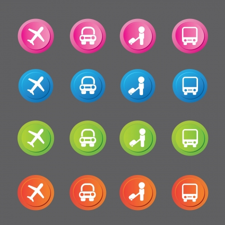 recreation rooms: Travel icons,vector