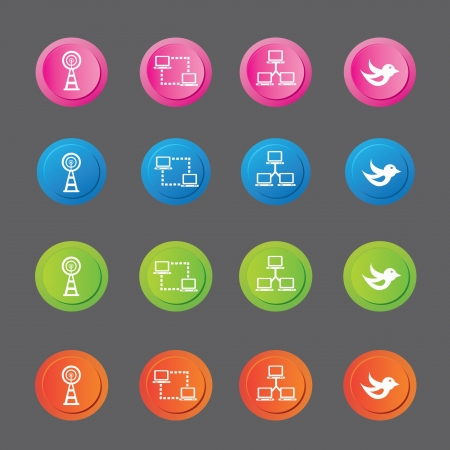Networking icons,vector Stock Vector - 19725252