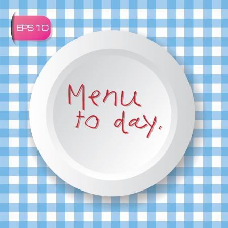 Menu to day,dish,vector  Vector