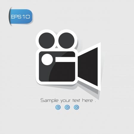 movie sign: Video, Pel�cula signo, vector
