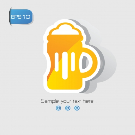 Beer sign,vector  Vector