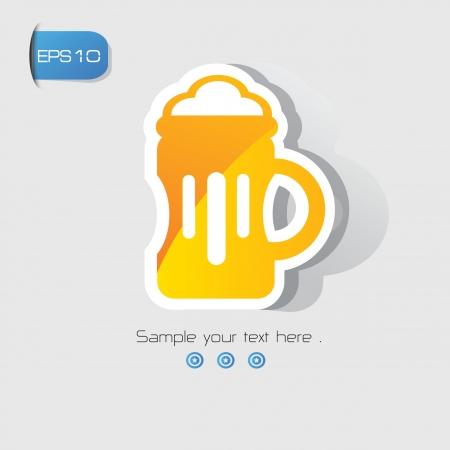 beer card: Beer sign,vector