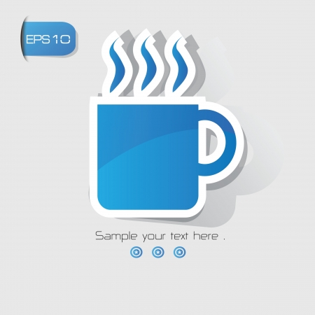 Coffee cup sign,vector  Vector