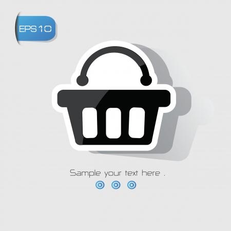 shopping basket: Shopping basket sign,vector