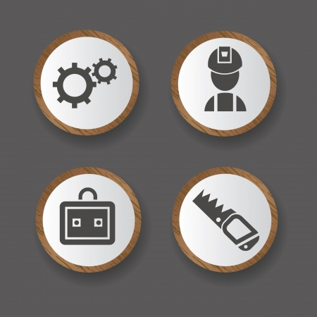 tool box: Tools icons,building icons,vector