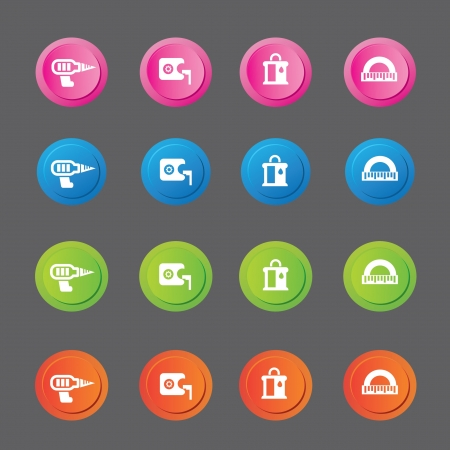 Constructor icons,building icons,vector Stock Vector - 19725249