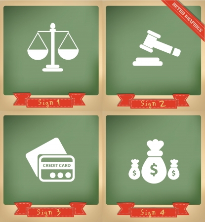 tribunal: Scale of justice and finance sign,vector