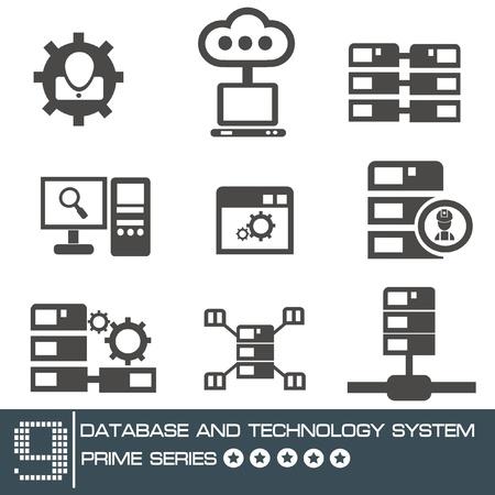 Computer system icon set,vector Stock Vector - 19725061
