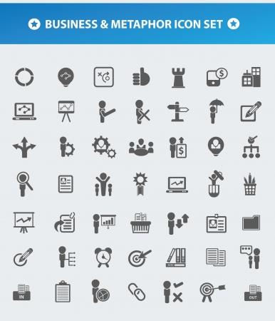 Business and Metaphor,human resource,management for firm icon set,vector  Stock Vector - 19725154