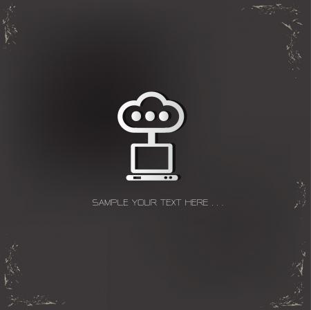Cloud computing sign set,vector  Vector