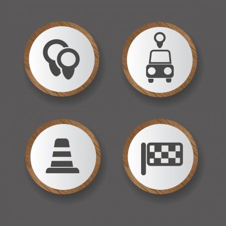 traffic signal: Coches y la carretera signo, vector Vectores