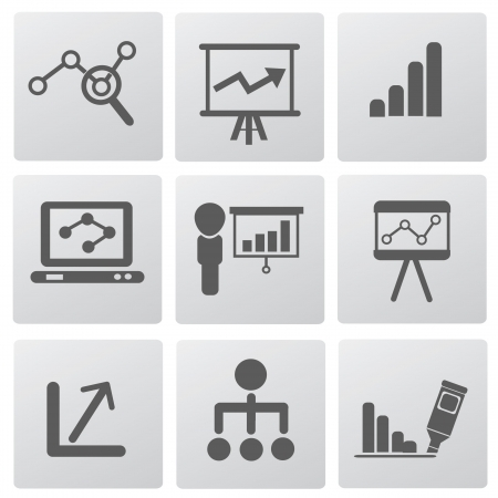 line graph: Graph and diagram for business icons,vector