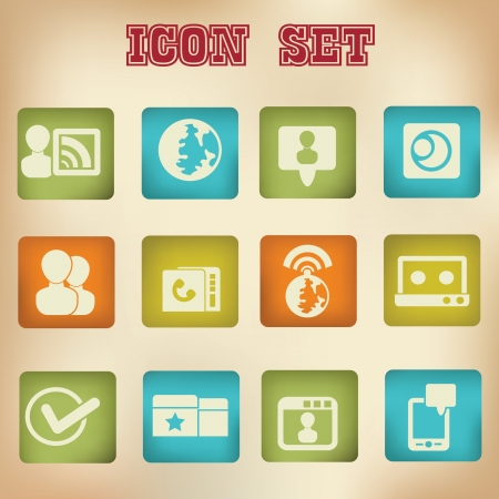 Social network and technology icon set,vector Stock Vector - 19725238