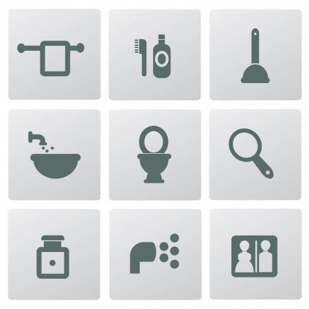Bathroom icons,vector Vector