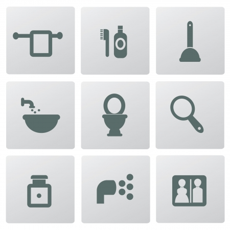 hairspray: Bathroom icons,vector
