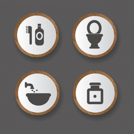 Bathroom icons,vector Vector
