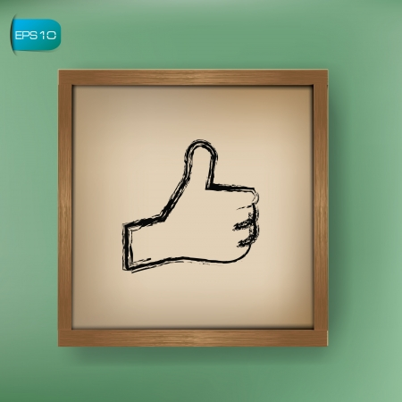 Like drawing sign on blackboard background,vector  Vector
