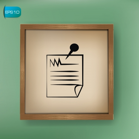 Paper drawing sign on blackboard background,vector  Stock Vector - 19656942