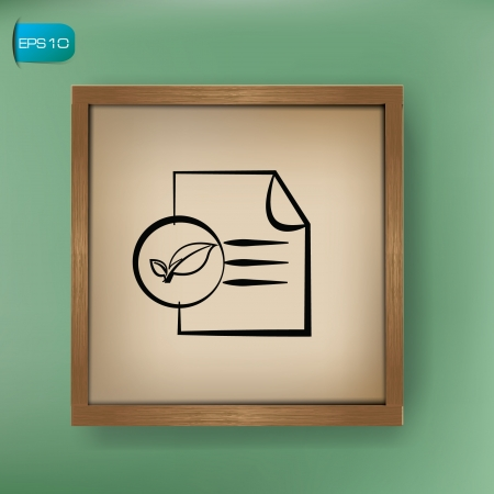 Nature paper drawing sign on blackboard background,vector  Vector
