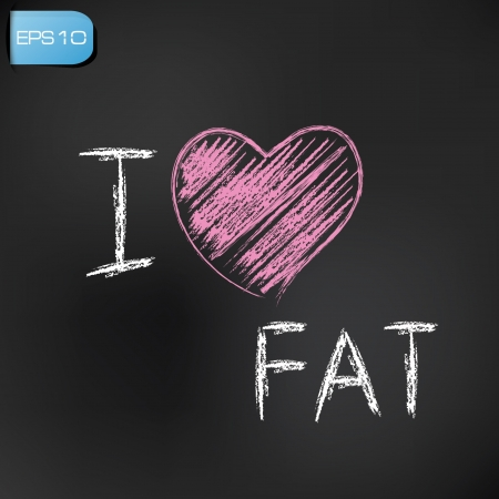 fatness: I love fat,vector