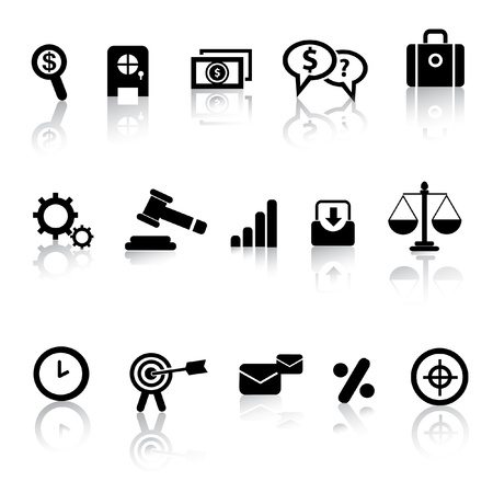 justice hammer: Business and marketing icon set,vector
