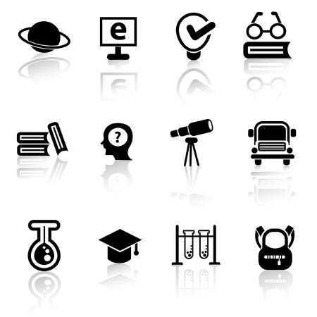 Onderwijs pictogrammen, vector Vector Illustratie