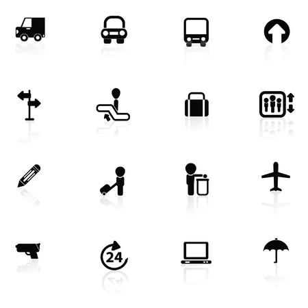 roadtrip: Tourist icon set,vector  Illustration