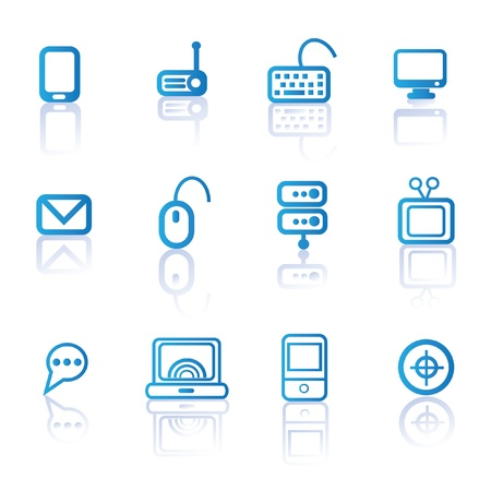 Computer and technology icon set,vector  Vector