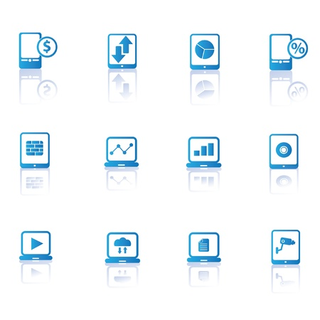 Computer,tablet pc and mobile phone sign icons,vector  Vector