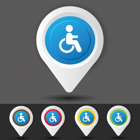 Disabled sign,vector  Vector