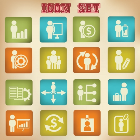 Human resource icon,vintage style,vector  Vector