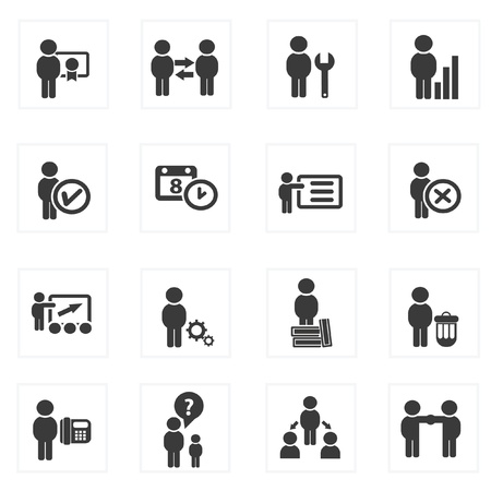 Business and human management icons,vector  Vector