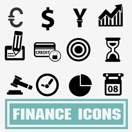 ic�nes de la finance d'entreprise, vecteur