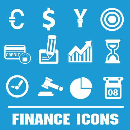 Business finance icons,vector Vector