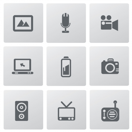 Media icon set,vector  Vector