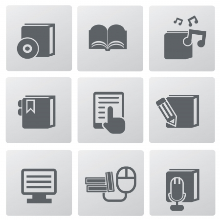 elearning: Education technology icon set,vector