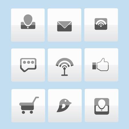 Social media icon set,vector  Vector