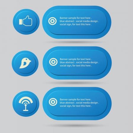 Social media,banner for text,vector  Vector