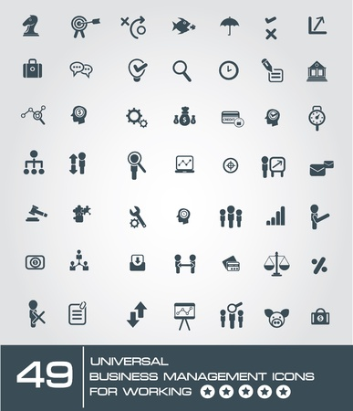 universal: 49 universal business management icon set for working,vector