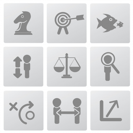Business concept and management icons,vector  Vector