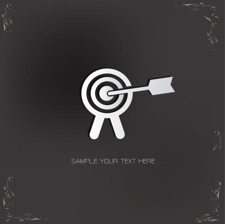 archery target: Target sign,vector  Illustration