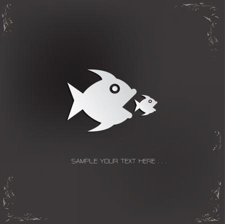 Big fish Zeichen, Vektor Vektorgrafik